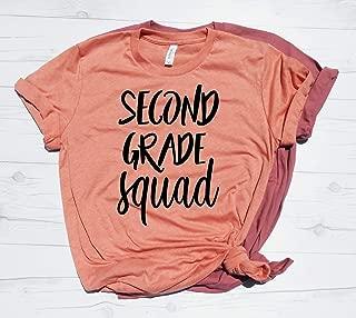 Second Grade Squad T-Shirt, Elementary School Teacher Shirt, Gift Idea for 2nd Grade Teacher, Teacher Shirt, Second Grade Teacher, Teacher Gift,