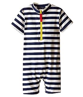 Yellow Zip Short Sleeve Sunsuit (Infant/Toddler)