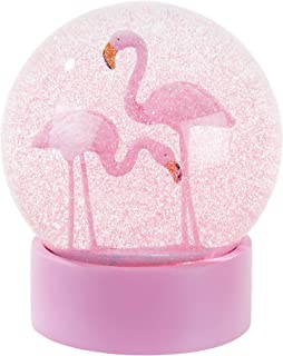 Talking Tables Mix Gifts Room Décor | Glitter Snow Globe | Flamingo