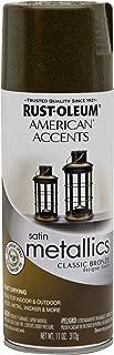 Rust-Oleum 202642 American Accents Topcoat Designer Metallic Spray Paint, 12 Oz Aerosol Can, Classic, 11 oz, Bronze
