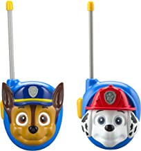 Paw Patrol New Walkie Talkies - Set of 2 Kids Walkie Talkies Chase and Marshall – Excellent Walkie Talkies for Toddlers