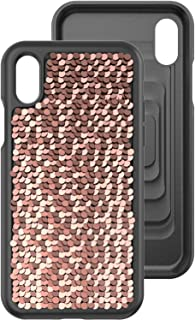 Body Glove Shimmer Reversible Sequins Phone Case for iPhone X - Black/Rose Gold