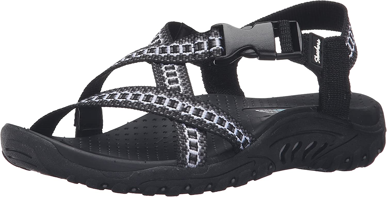 Skechers Skechers Skechers Woherren Reggae Kooky Flat Sandal, schwarz Amp grau, 11 M US a99