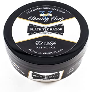 Black Tie Razor Company Luxury Shaving Soap El Hefe. Tobacco and Musk. Rich Lather Gives a Smooth Comfortable Shave. - 4 ozs.