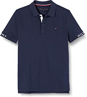 Tommy Hilfiger Sleeve Text Polo S/S Niños