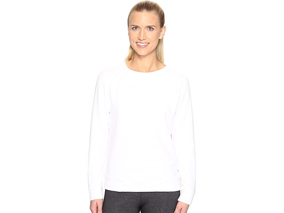 Under Armour Plush Terry Crew (White) Women
