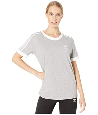 adidas Originals 3-Stripes Tee (Medium Grey Heather) Women