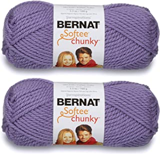 2-Pack - Bernat Softee Chunky Yarn, Lavender, Single Ball