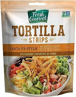 Fresh Gourmet Tortilla Strips, Santa Fe Style, 3.5 Ounce (Pack of 9)