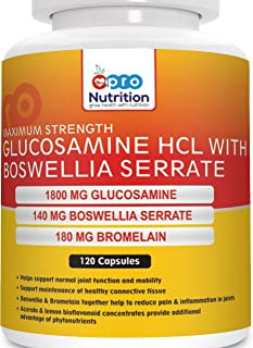 Pronutrition Glucosamine Hcl With Boswellia (Double Strength) 120 Capsules