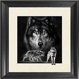 Wolf 5D / 3D Poster Wall Art Decor Framed Print | 18.5×18.5 | Lenticular Posters..
