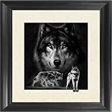 Wolf 5D / 3D Poster Wall Art Decor Framed Print | 18.5x18.5 | Lenticular Posters & Pictures | Memorabilia Gifts for Guys & Girls Bedroom | Forest Wildlife & Hunting Animal Picture for Home Decorations