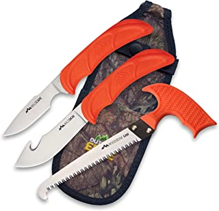 OUTDOOR EDGE Wild Guide 2 Knife & Saw Game Processing Set, Mossy Oak Seath (WG-10C)