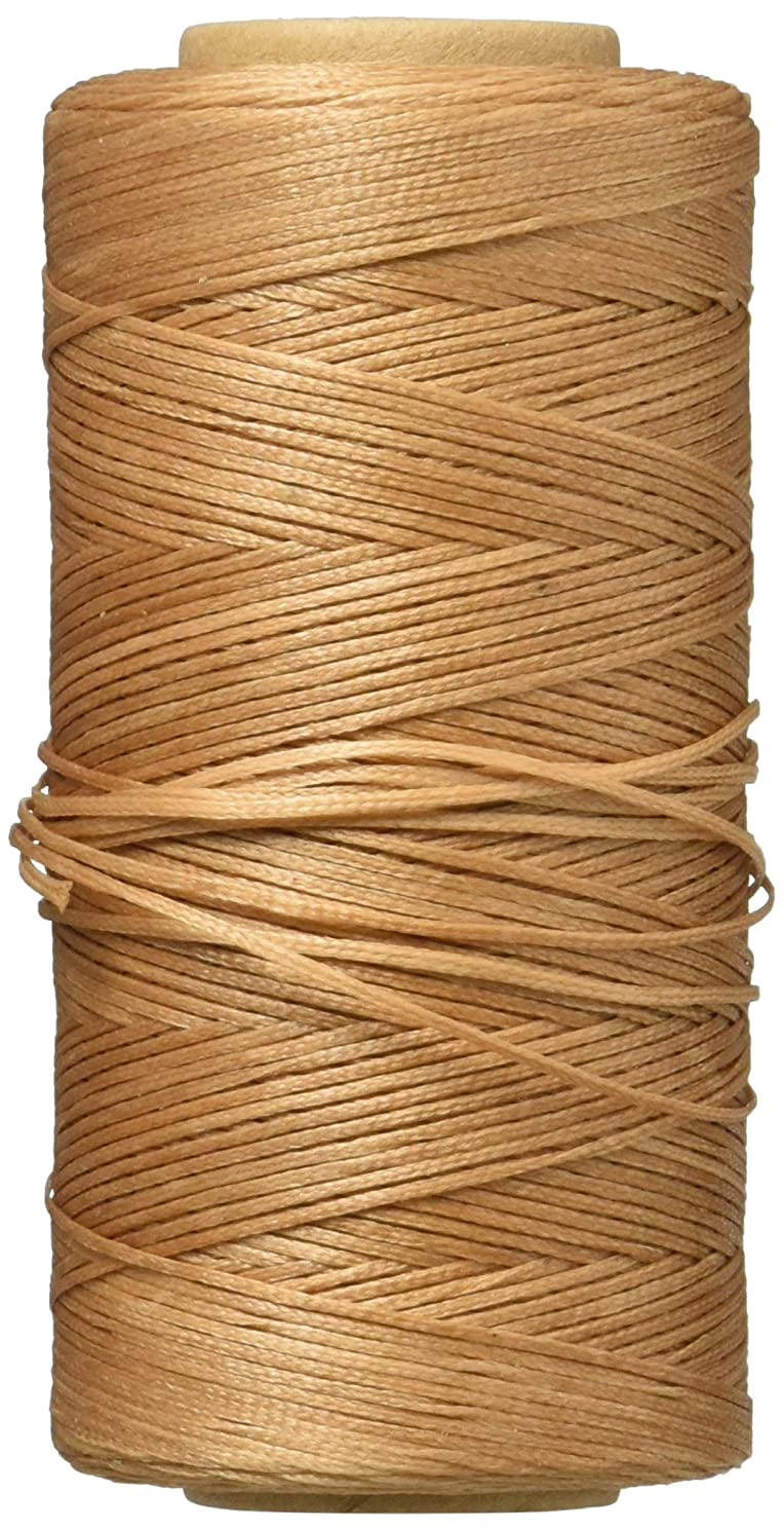 Flat Waxed Thread (Brown) - 284Yard 1mm 150D Wax String Cord Sewing Craft Tool Portable for DIY Handicraft Leather Products Beading Hand Stitching