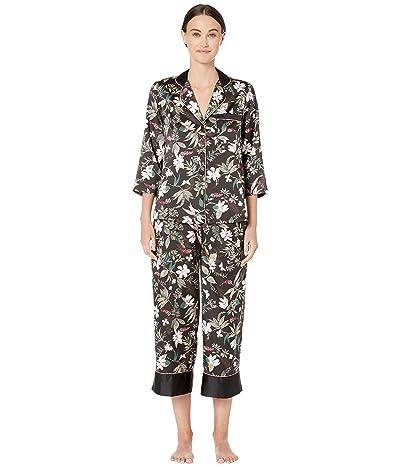Kate Spade New York Charmeuse Cropped Pajama Set (Botanical) Women