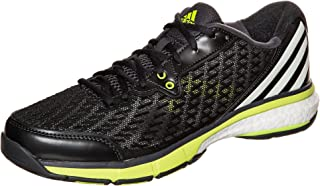 Adidas Energy Boost Volleyメンズ靴ダークグレー/ホワイト/イエロー(12.5)