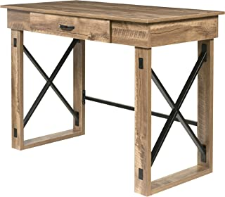 OneSpace Martin Standing Desk with Drawer, Classic Oak