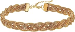 Gold Mesh Interwoven Necklace