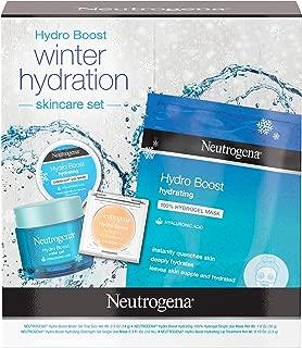 Neutrogena Hydro Boost Winter Gift Set with Hyaluronic Acid Gel Cream, Sheet Face Mask,..