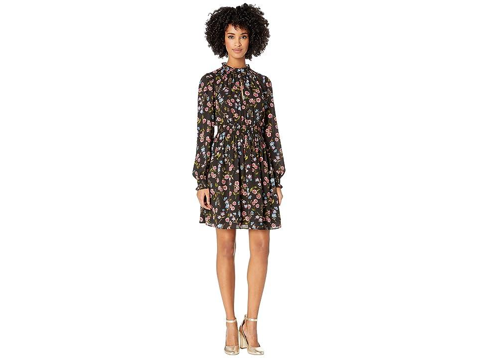 Kate Spade New York Wild Ones Meadow Smock Waist Dress (Black) Women