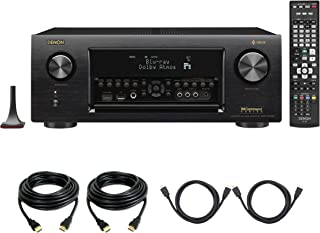 Denon AVR-X4400H Dolby Atmos 9.2 Network Bluetooth WiFi AirPlay 4K Ultra HD In-Command AV Receiver with HEOS Technology with 4 HDMI Cables