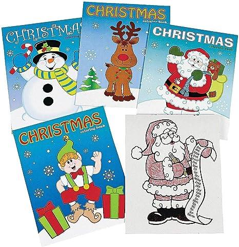 Amazon.com: Christmas Coloring Books Party Favor - 12 Pieces: Toys & Games
