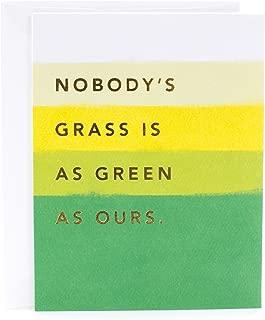 Hallmark Anniversary Card (Grass is as Green)