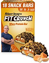 FITCRUNCH Snack Size Protein Bars Designed by Robert Irvine WorldaE s Only 6-Layer Baked Bar Just 3g of Sugar Soft Cake Core 18 Snack Size Bars Caramel Peanut Estimated Price : £ 80,95