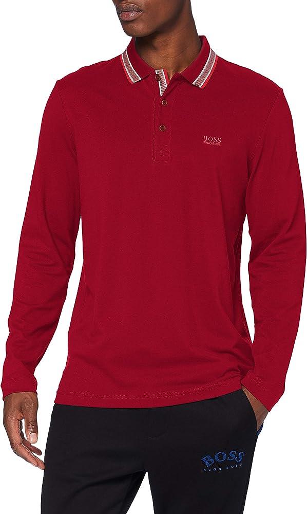 Hugo boss plisy polo maglione da uomo 100% cotone 50272945