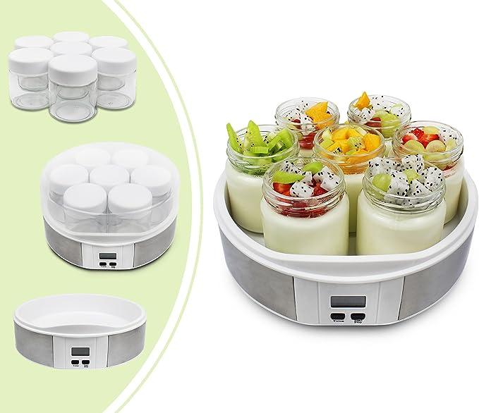 991 opinioni per Leogreen- Yogurtiera, Macchina Per Yogurt Fatto In Casa, 7 vasetti, con Timer,