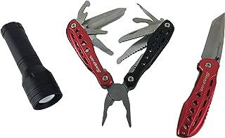 Snap on 3pc multi tool knife & flashlight set