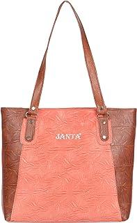 Janta PU Leather Women Shoulder Bag (Orange-3390)