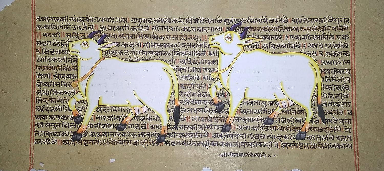 Cow Animal Painting 2021 model Miniature Wonderful On Art Quality inspection Sanskrit S