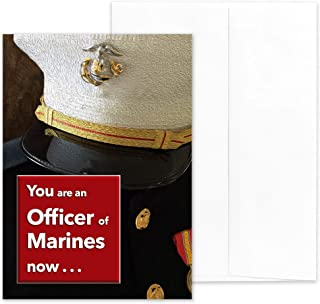 An Officer Now - US Marine Corps Officer Graduation Greeting Card - Includes Envelope - 5