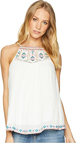 Back Tassel Embroidered Top