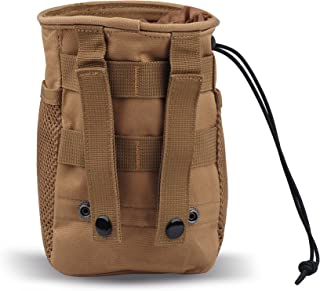 CISNO Military Small Molle Belt Tactical Magazine Dump Drop Reloader Pouch Bag W/Mesh