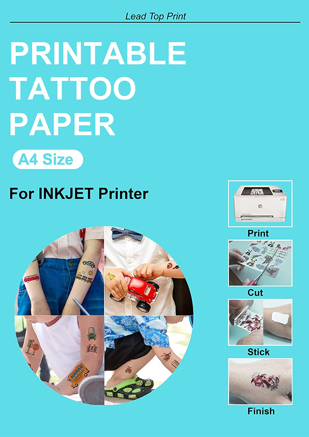 National products 2 Sets sale Printable Temporary Tattoo A4 DIY Paper Size