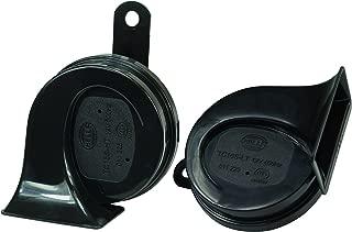 HELLA 012010971 Black 12V Trumpet Horn Kit (Universal Fit-Blister Pack)