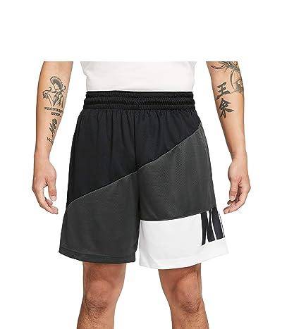 Nike Dry Starting5 Asymmetric Shorts (Black/Dark Smoke Grey/White/Dark Smoke Grey) Men