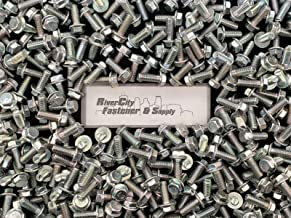 (50) M10-1.5 x 25 Hex Flange Bolts M10x1.5x25 Grade 10.9 10mm x 25mm Screws - Durable and Sturdy, Good Holding Power in Different Materials