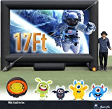 17FT Inflatable Mega Movie Screen Outdoor - Front and Rear Projection - Portable Blow Up Projector Screen for Grand Parties, Easy to Set Up