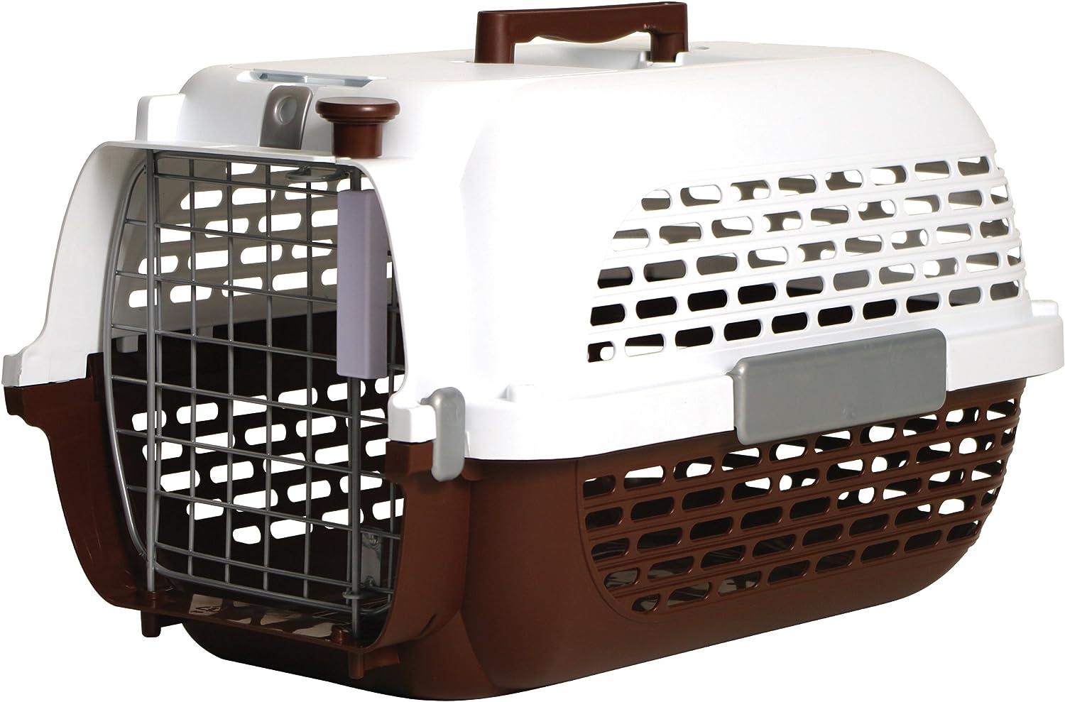 Dogit Voyageur Dog CarrierBrown WhiteMedium56.5cm L X 37.6cm W X 30.8cm H (22Inch X 14.8Inch X 12Inch)
