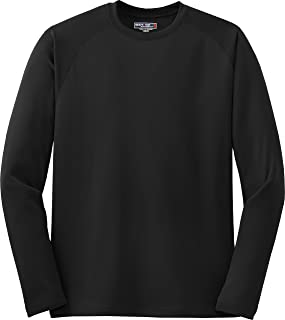 Sport-Tek Raglan Long Sleeve TShirt with Wicking and AntiMicrobial Treatments T473LS