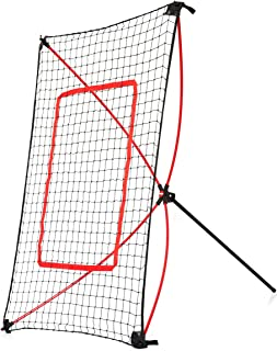 NET PLAYZ PitchBack Portable Baseball Rebound Net, 5FT x 3FT, Quick Set Up, Lightweight, Multi Angle Adjustment, Baseball Training Net, Baseball Trainer Suitable for Throwing, Pitching, and Fielding