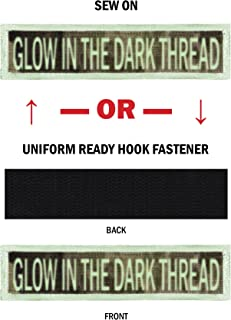 Custom GLOW Morale Name Tapes with GLOW Border! Over 35 Fabrics to choose! Made in USA!! SHIPS UNDER 24 HOURS!