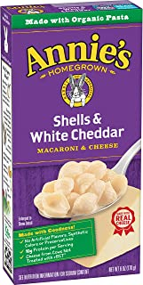 Annie's Macaroni and Cheese, Shells & White Cheddar Mac and Cheese, 6 oz Box (Pack of 12)