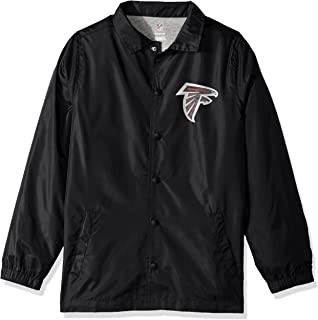 NFL Youth Boys Bravo Coaches Jacket-Black-L(14-16), Atlanta Falcons