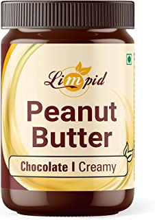 Limpid Peanut Butter | Chocolate & Creamy | Peanut Spread - Butter | Gluten Free - Completely Vegan (340 Grams)