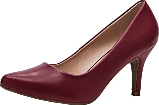 Cambridge Select Women's Classic Slip-On Closed Pointed Toe Stiletto Heel Pump