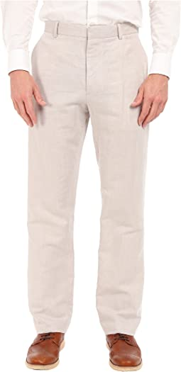 Perry ellis linen cotton herringbone pant natural linen  c0268b8ae